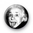 Funny Albert Einstein Button Badge