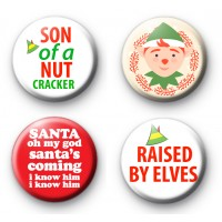 Set of 4 Christmas ELF Movie Badges