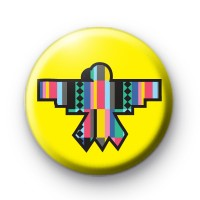 Native American Yellow Bird Pattern badge