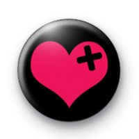 Emo Valentines Heart badges