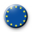 European Union Flag Button Badge