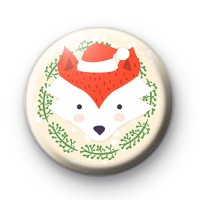 Festive Mr Fox Button Badge