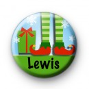 Custom Festive Elf Name Badge Green