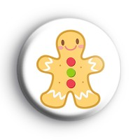 Festive Gingerbread Man Cookie Badge thumbnail