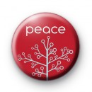 Festive Peace Tree Badge