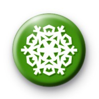Festive Green Snowflake Badge