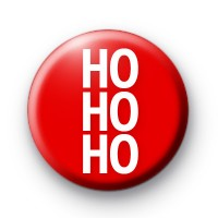Festive Red Ho Ho Ho badge
