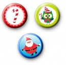 Festive Trio Set of 3 Badges