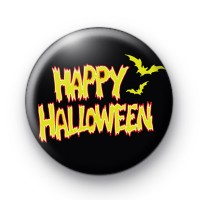 Happy Halloween Flames Badge