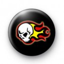 Flaming Skull Badges
