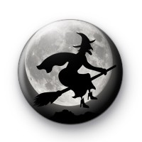 Creepy Witch Pin Button Badge