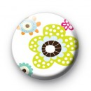 Floral Dotty Badges