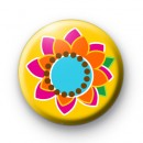 Funky Bright Retro Flower badges