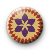 Symmetric Purple Flower Pattern Badge