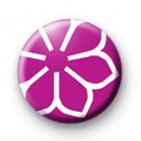 Purple Flower Badge