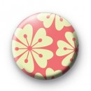 Pink Flowers Button Badge