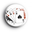 Four Aces Playing Cards Badge