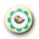Cute Framed Bird Button Badges