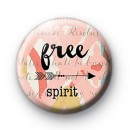 Pink Free Spirit Badge
