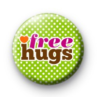 Pink Free Hugs Badge