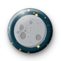 Full Moon Pin Button Badge