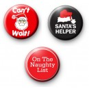 Set of 3 Funny Festive Badges