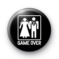 Game Over Black Wedding Badges
