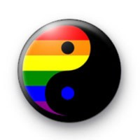 Rainbow Ying Yang badges
