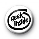 Geek Inside Button Badges