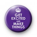 Purple Get Excited and Make Things badges
