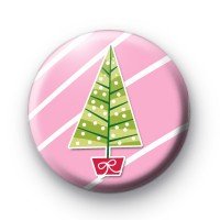 Pink Girly Christmas Tree Badges