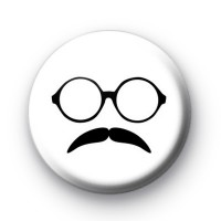 Glasses and Moustache Pin Badge