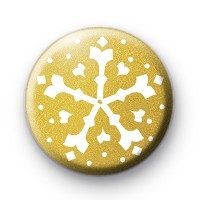 Gold Festive Snowflake Badge