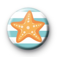 Golden Starfish Button Badge