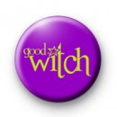 Purple Good Witch Button Badge
