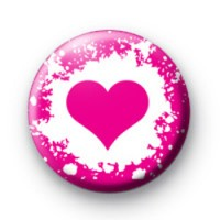 Graffiti Pink Heart Badge