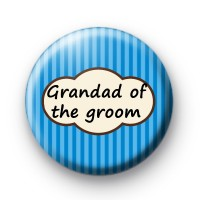 Grandad of the groom blue striped badge