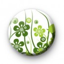 Green Flower Badges