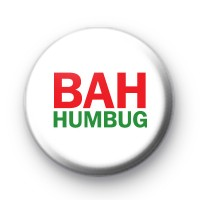 Green and Red BAH Humbug Badge