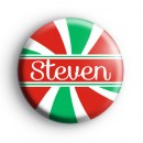 Custom Candy Cane Name Green, Red and White Badge