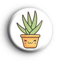 Green Cute Succulent Plant Badge thumbnail