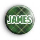 Custom Green Tartan Name Badge