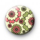 Green and Pink Flower Badge