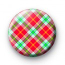 Green and Red Plaid Pattern Badge