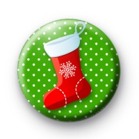 Green and Red Stocking Badge