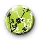 Green Blossom Flower Badge
