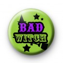 Green Halloween Bad Witch Badge
