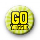 Go Veggie Pin Button Badges