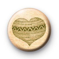 Green Heart Pattern Badges