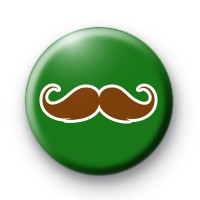 Funky Green Moustache Badge